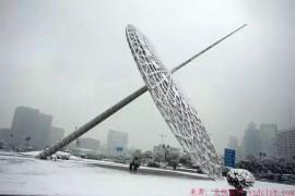 上海的冬天下雪了