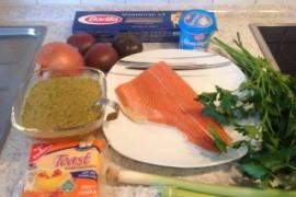 三文鱼奶酪酱意面的做法步骤