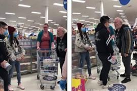 华人男女大闹澳洲超市 就因一包奶粉欲殴老人