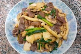 杂菇炒牛肉的做法步骤