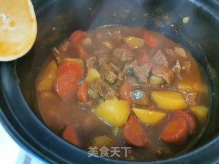 牛肉咖喱饭的做法步骤 家常菜谱 第6张